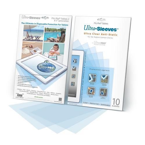Ultra PRO Ultra SLEEVES Clear Anti-Static Disposable 10-Pack Protective Sleeves for Apple iPad 2/3/4