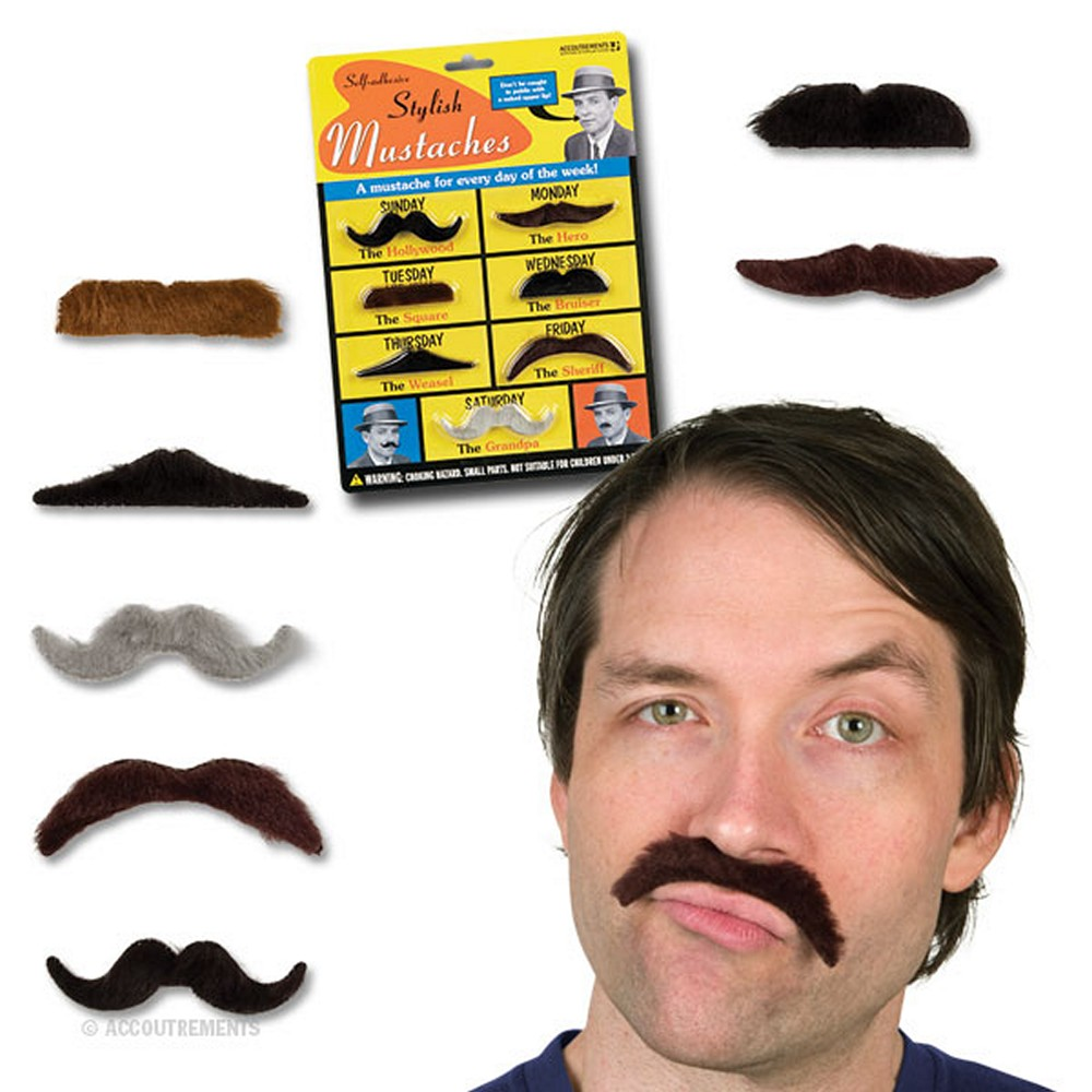 Stylish Mustaches - 7 Pack