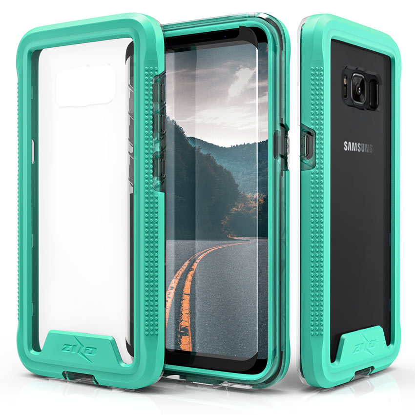 Made for [Samsung Galaxy S8]-Ion Series: Triple Layered Shockproof Protection TPU & PC Hybrid Cover w/ Tempered Glass [Mint/ Clear]
