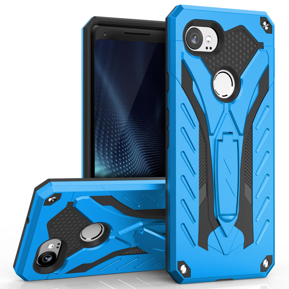 Made for [Google Pixel XL 2]-Static Series: Dual Layer Hard Case TPU Hybrid [Military Grade] w/ Kickstand & Shock Absorption [Blue/ Black]