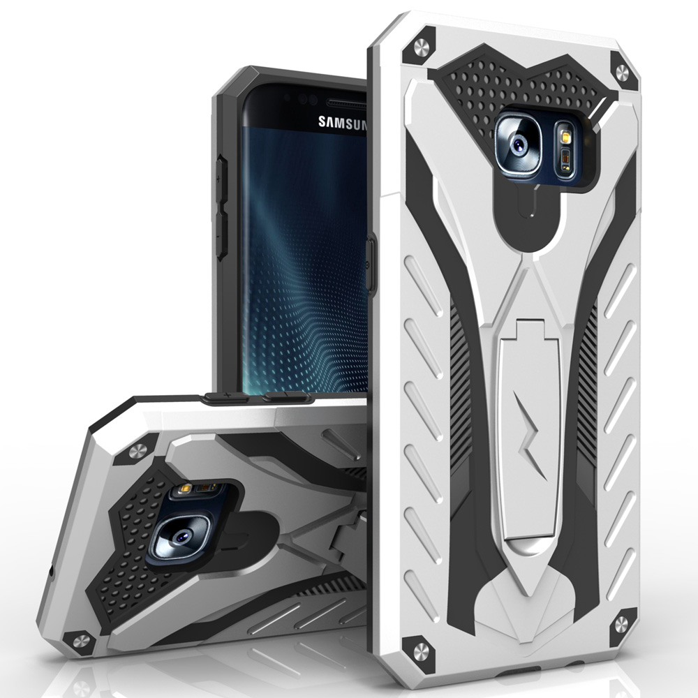 Samsung Galaxy Note 7 Case, STATIC Dual Layer Hard Case TPU Hybrid [Military Grade] w/ Kickstand & Shock Absorption [Silver/ Black]