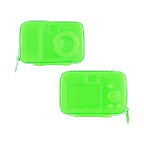 Original DCI Flash Digital Camera Hard Case w/ Zip Closure, 23576-NGR - Neon Green