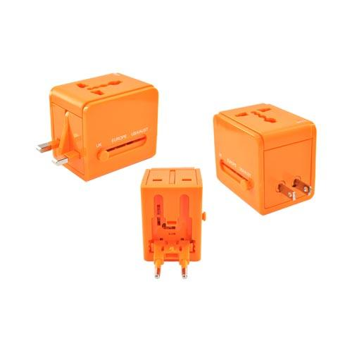 Original DCI 3 Type Travel Adapter, 26546-OR - Orange (UK/Europe/Australia)