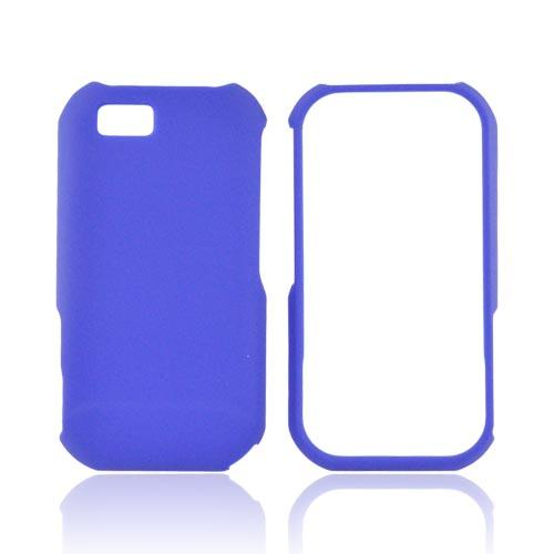 Super Premium Motorola TITANIUM Rubberized Hard Case - Blue