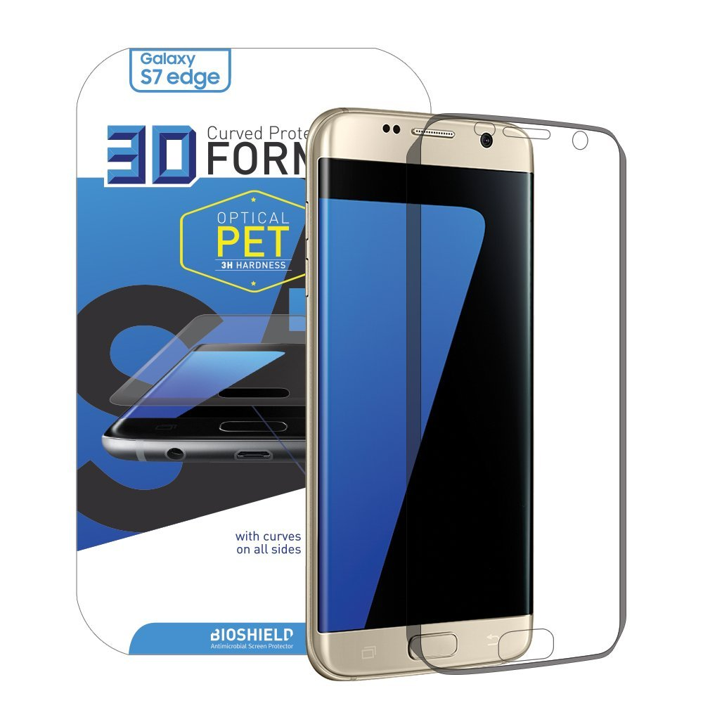 Anti-shock Screen Protector For Samsung Galaxy S7 Edge with Full Coverage, Edge to Edge, Anti Shock, 2H, AFP, HD