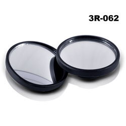 "Blind Spot Mirror 1.75"" Round Shape, Convex, Universal for all Cars, Trucks & Motorcycles [Black]"