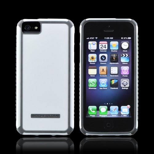 Made for Apple iPhone 5/5S  Tactic Hybrid Hard Case  CRC92966 - White/ Gray by Body Glove