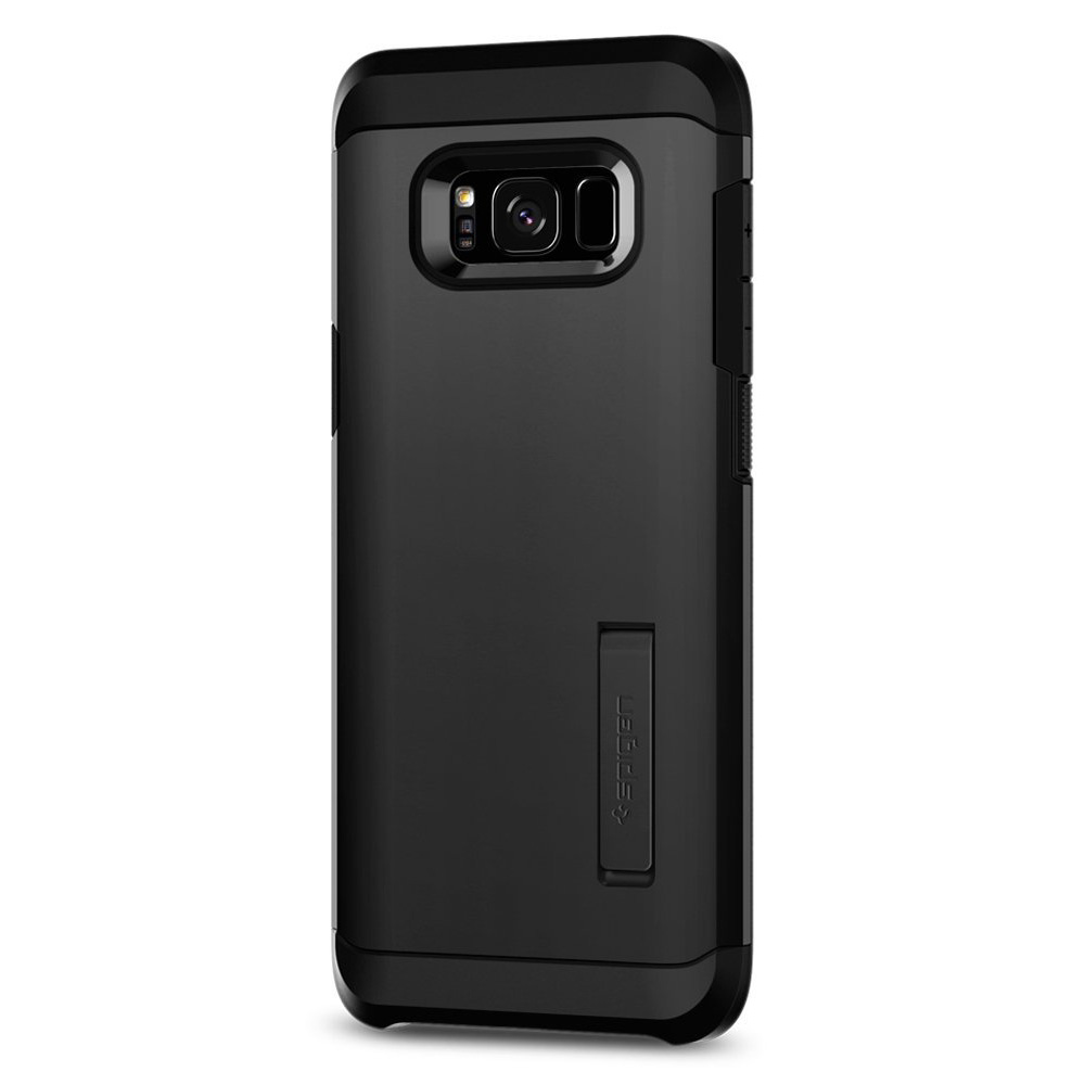 Samsung Galaxy S8 Heavy Duty Case, [Spigen] Tough Armor Case w/ Kickstand, Extreme Heavy Duty Protection and Air Cushion Technology [Black]