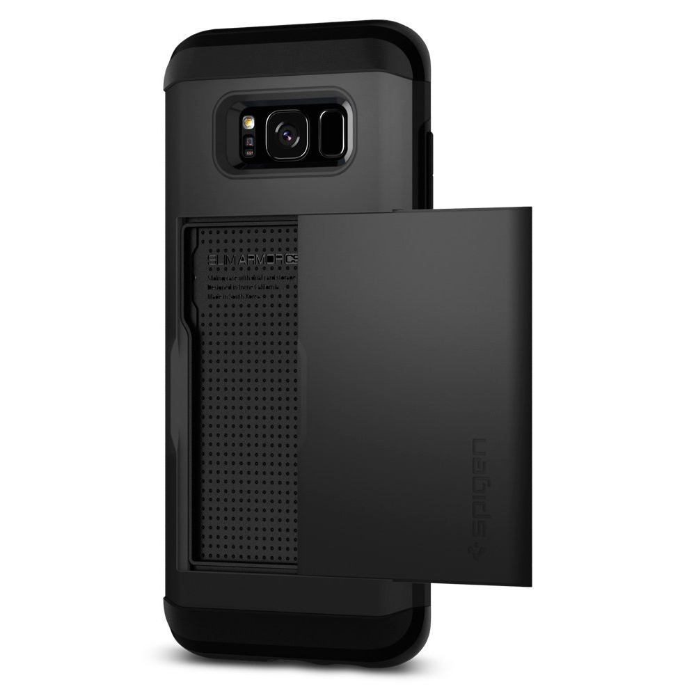 Samsung Galaxy S8 Plus Case, [Spigen] Slim Armor CS Case W/ Slim Dual Layer Wallet Design and Card Slot Holder [Black]