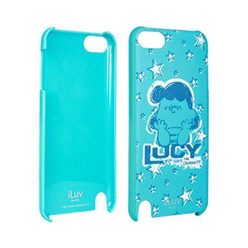 iLuv Snoopy Character Series Blue Crabby Lucy Rubberized Hard Case for Apple iPod Touch 5