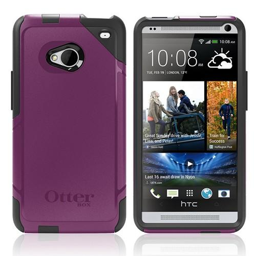 Otterbox Lilac (Purple/Gray) Commuter Series Hard Case over Silicone w/ Screen Protector for HTC One
