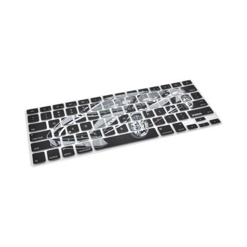 OEM XSKN Apple MacBook Silicone Keyboard Cover - Black/ Gray Cool Ride