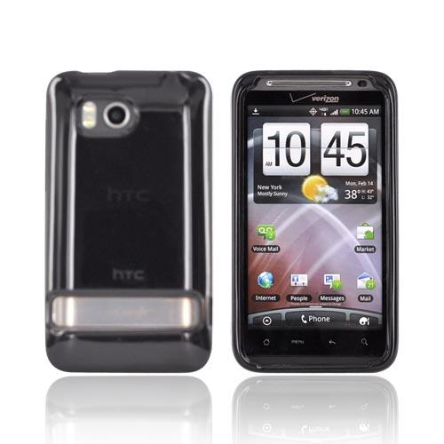 Original HTC Thunderbolt Crystal Silicone Case, 70H00374-03M - Dark Smoke