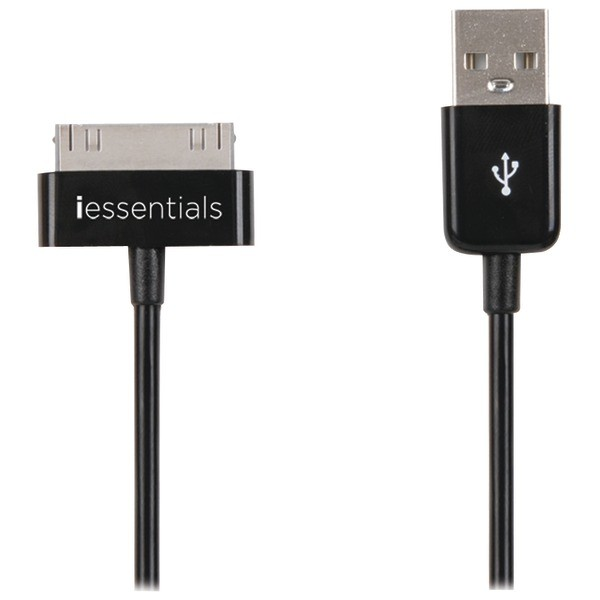 Black 30-Pin Compatible Connector USB Sync Cable - 3.3ft