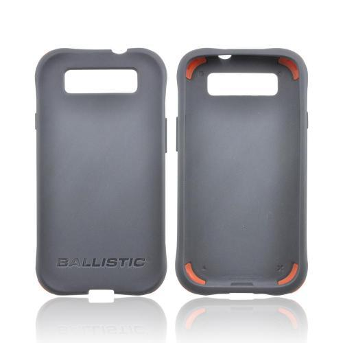 OEM Ballistic Samsung Galaxy S3 Lifestyle Smooth Gel Skin Case w/ Interchangeable Corner Bumpers - Gray
