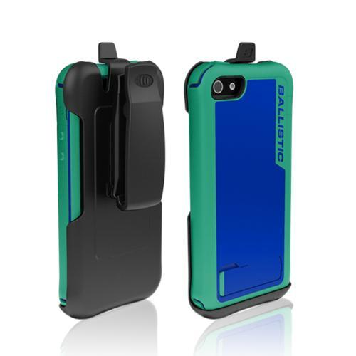 Apple iPhone SE / 5 / 5S  Case, Ballistic [Teal/ Blue] Every1 Series Hybrid Case w/ Holster w/ Built-In Screen Protector