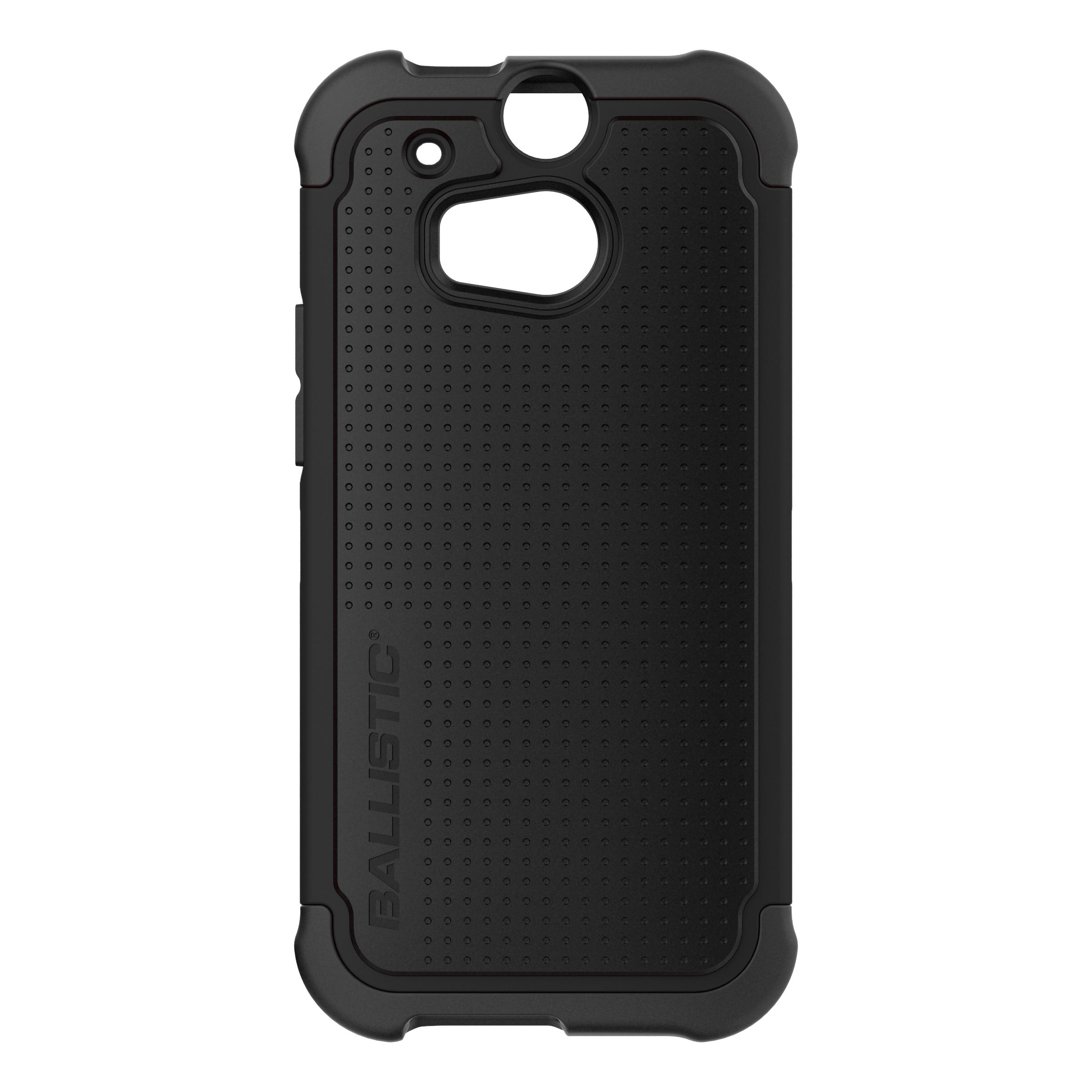 Ballistic Black Shell Gel (SG) Series Hard Case on Black Silicone for HTC One (M8) - SG1307-A065
