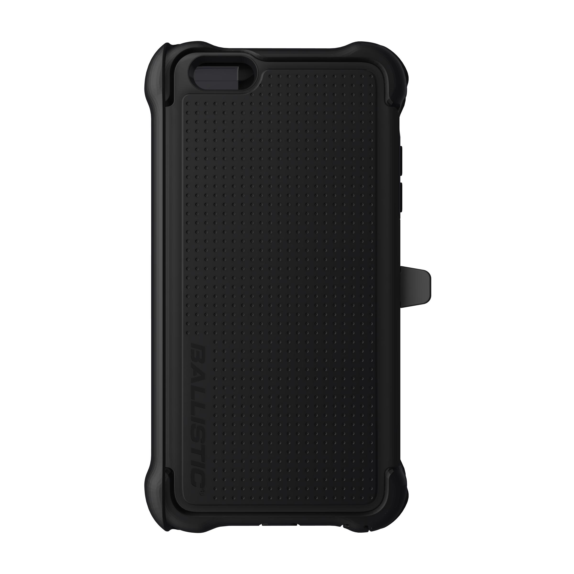 Apple iPhone 6 PLUS/6S PLUS (5.5 inch) Case, Ballistic [Black] Tough Jacket Maxx Series Hard Case On Silicone Skin Case w/ Holster
