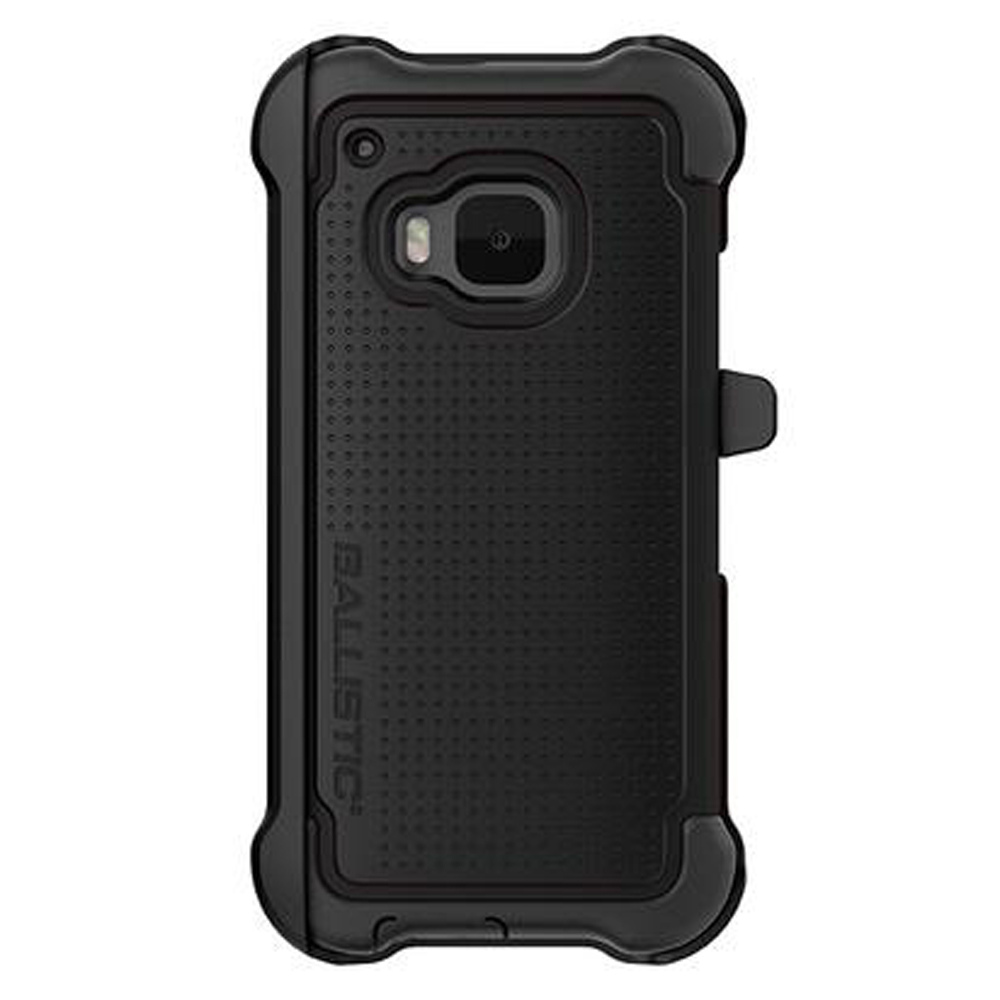 HTC One M9 Case, Ballistic [Black] TOUGH JACKET MAXX Series Hard Case On Silicone Skin Case W/ Holster
