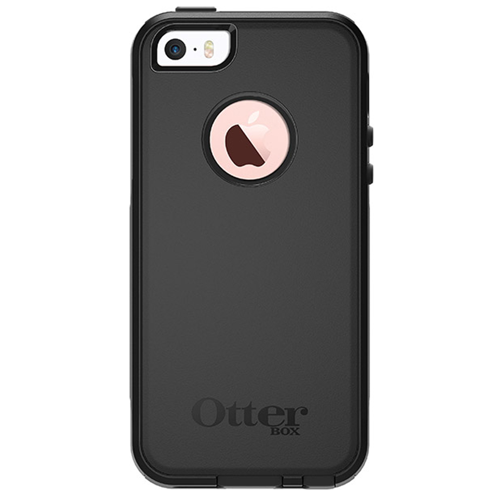 Apple iPhone SE/5/5S Case, Otterbox [Black] Commuter Series Hybrid Hard Cover Case w/ Screen Protector