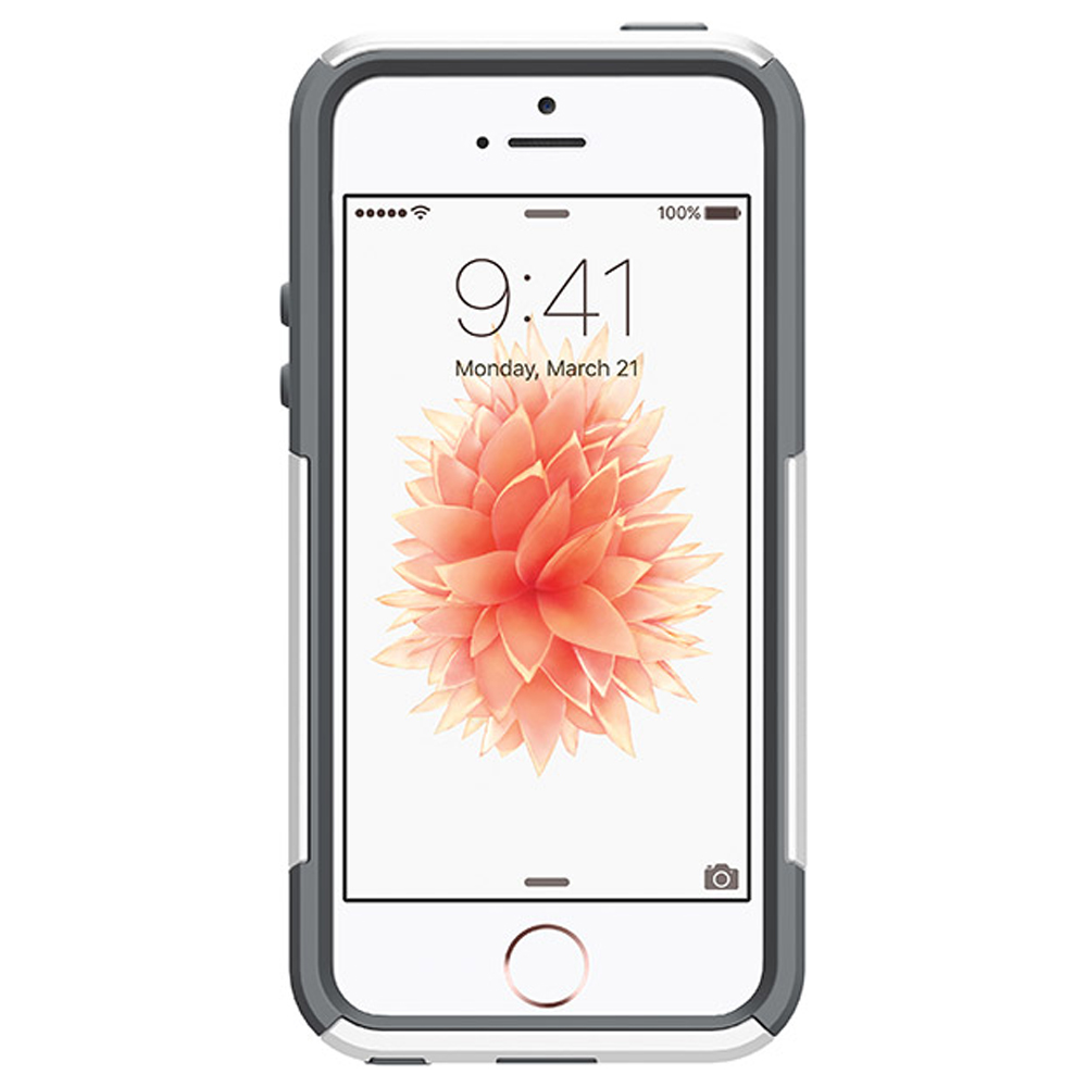 Made for Apple iPhone SE/5/5S Case, [White/Gray] Commuter Series Hybrid Hard Cover Case w/ Screen Protector by Otterbox