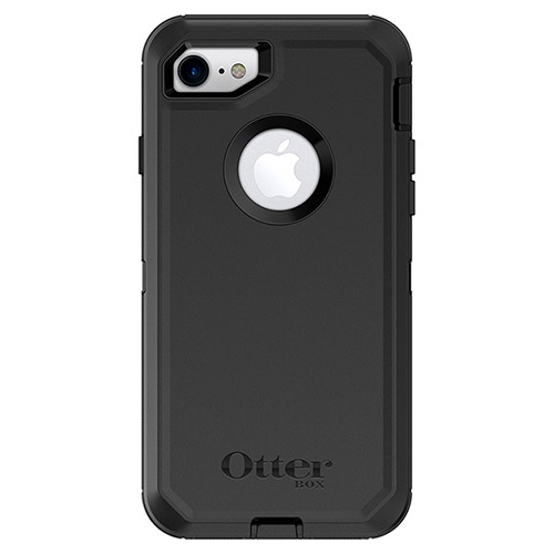 [Otterbox] Apple iPhone 8/ iPhone 7 [Black] Defender Series Hard Cover Case w/ Built-In Screen Protector & Holster Belt Clip