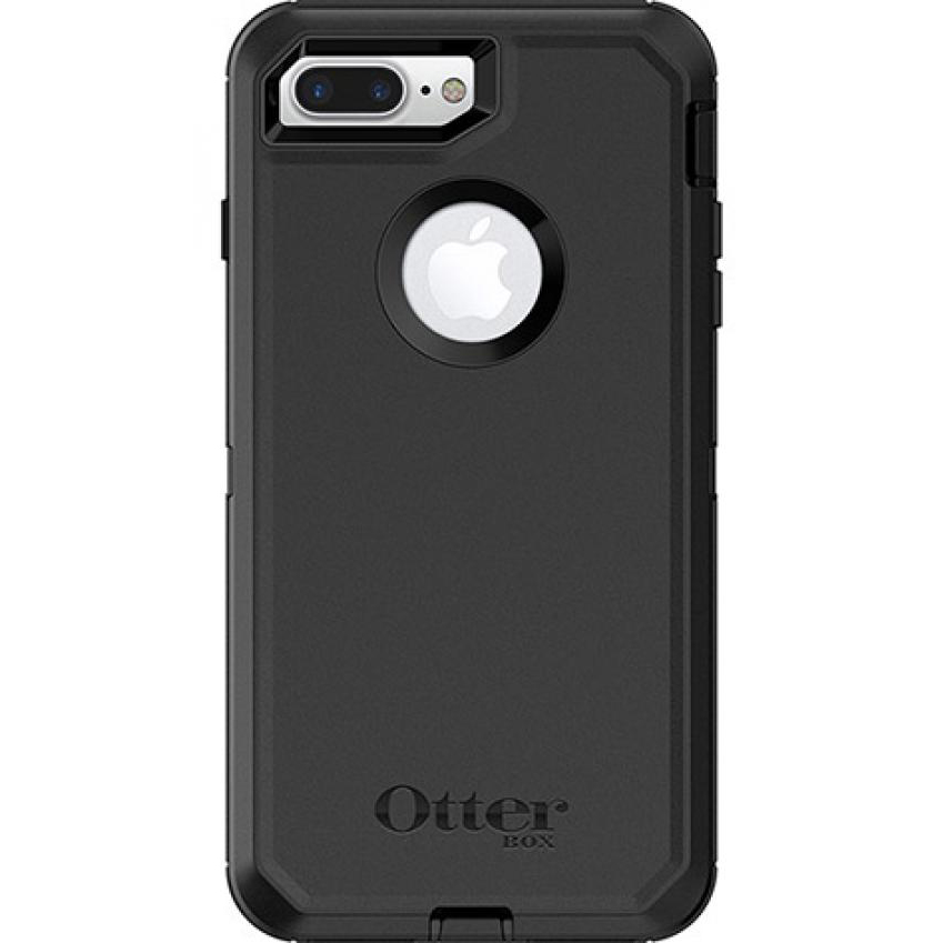 [Otterbox] Apple iPhone 8 Plus/ iPhone 7 Plus [Black] Defender Series Hard Cover Case w/ Built-In Screen Protector & Holster Belt Clip