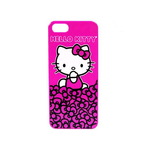 Apple iPhone SE / 5 / 5S  Case, Hello Kitty [Hello Kitty on Mountain of Bows]  Hot Pink Hard Case for - KT4489PPB