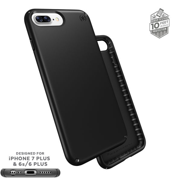 Apple iPhone 8/7/6S/6 Plus Case, Speck Presidio Slim Hard Cover Case w/ IMPACTIUM Shock Barrier [Black]
