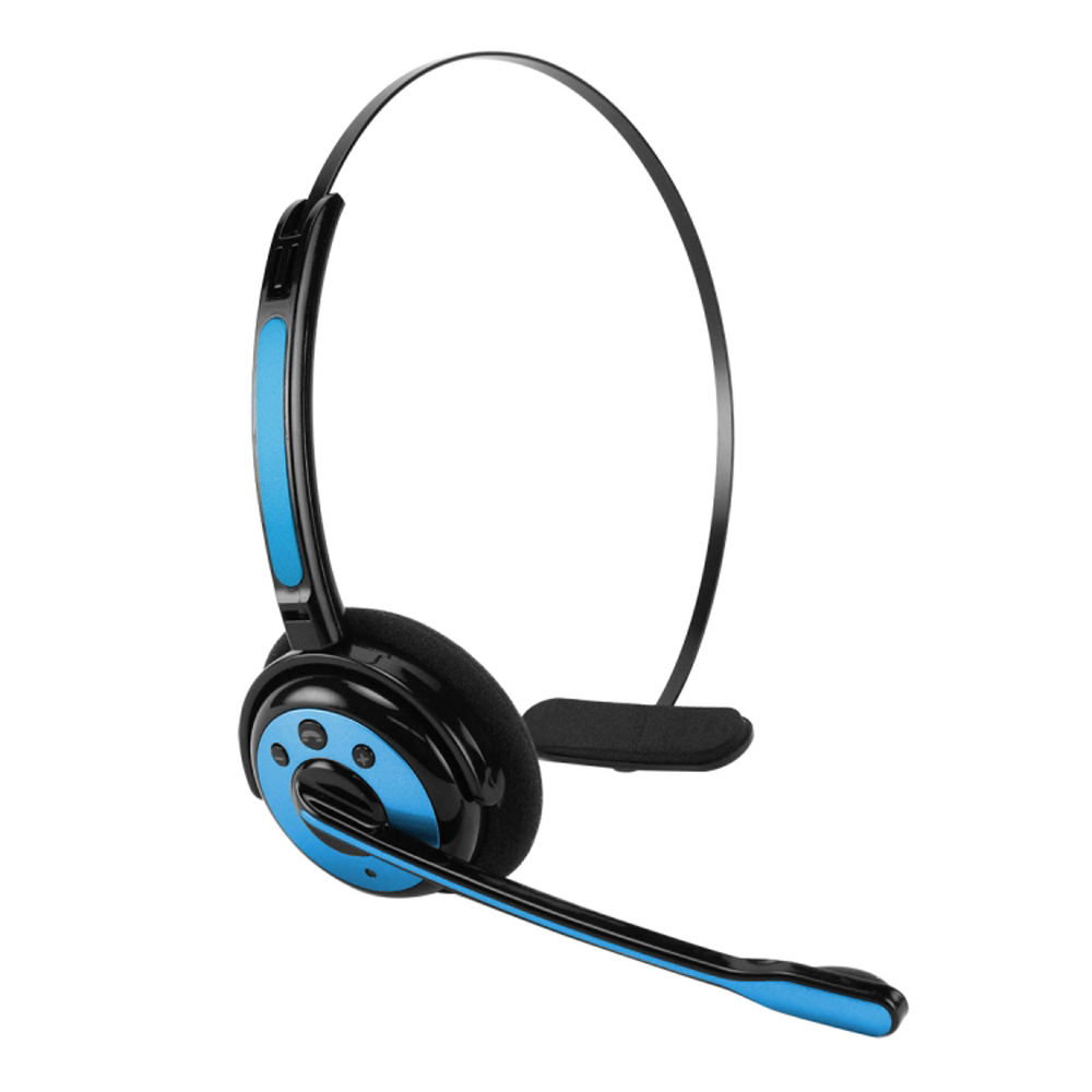 Cellet Blue Wireless Bluetooth Headset with Boom Microphone