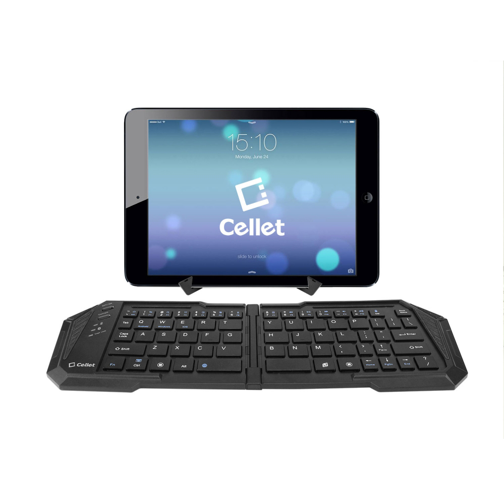 Cellet Black Ultra-Thin Wireless Bluetooth 3.0 Portable Foldable Keyboard