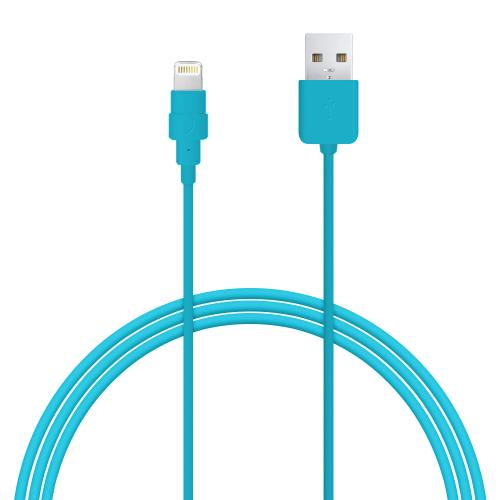 Sky Blue MFI Certified Lightning Compatible to USB Charge & Sync Data Cable - 6ft/1.8M