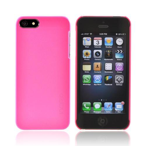 Apple iPhone SE / 5 / 5S  Case, Incipio [Hot Pink] Feather Series Ultra-Thin Rubberized Hard Case w/ Screen Protector - IPH-806