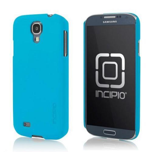 Incipio Sky Blue Feather Series Rubberized Hard Case w/ Screen Protector for Samsung Galaxy S4