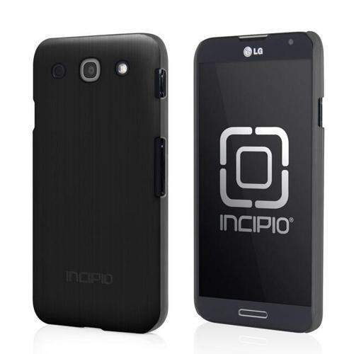 Incipio Black Feather Shine Series Rubberized Hard Case w/ Screen Protector for LG Optimus G Pro - LGE-182