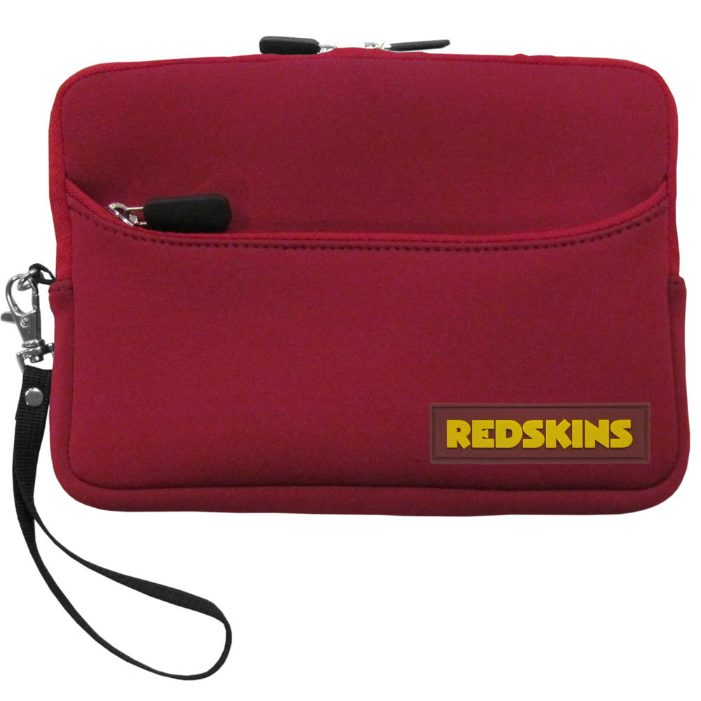 "Washington Redskins Red Neoprene Case w/ Wrist Strap for 7"" Devices - NFL Licensed"