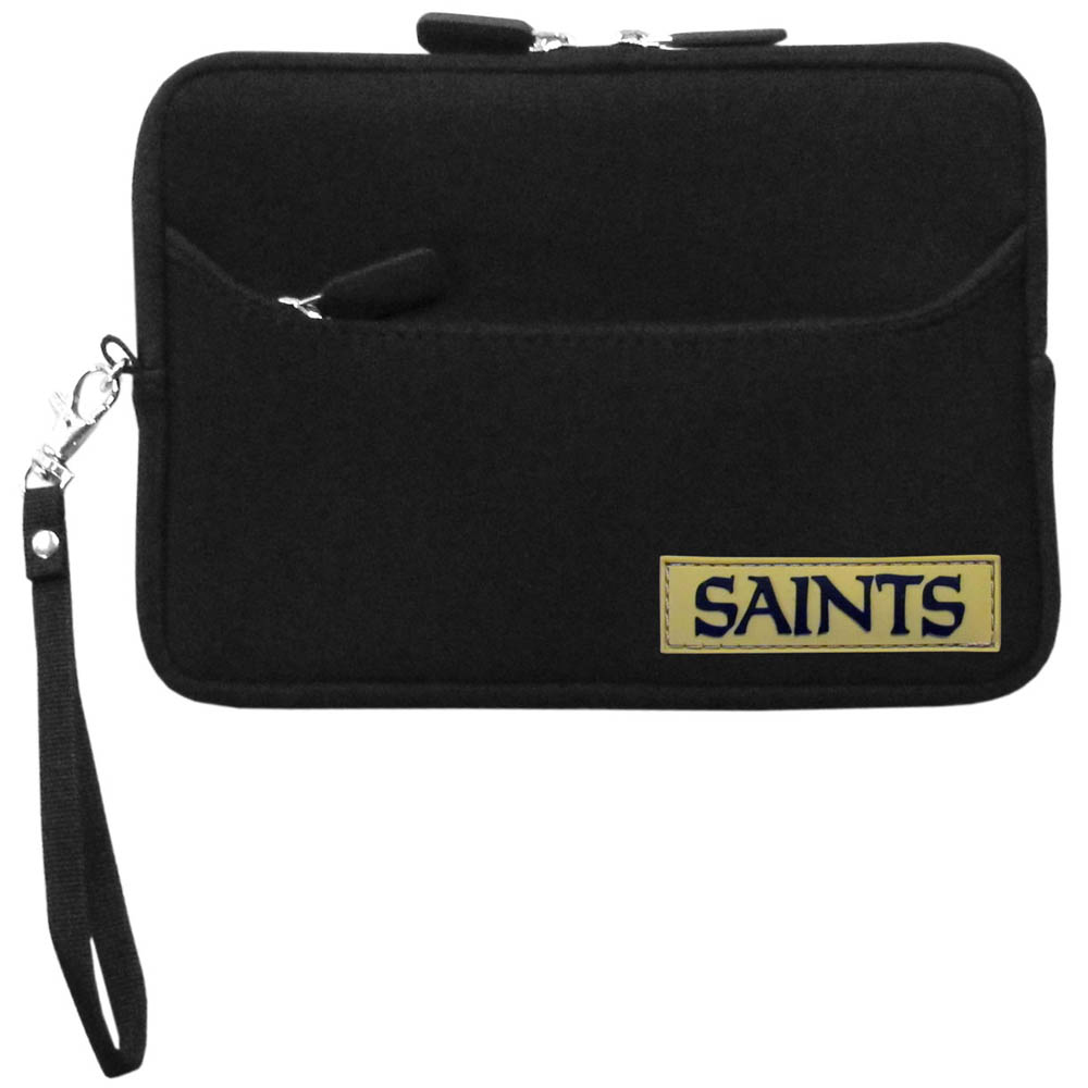 "New Orleans Saints Black Neoprene Case w/ Wrist Strap for 7"" Devices - NFL Licensed"