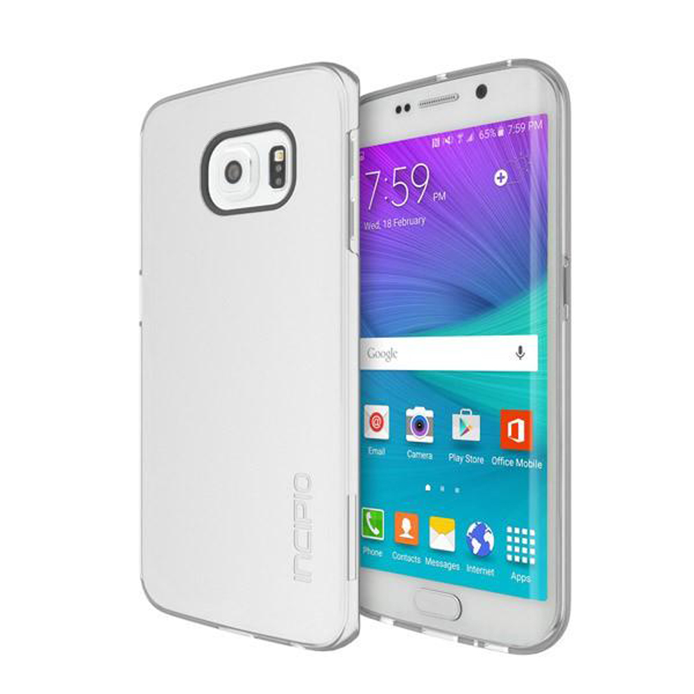 Samsung Galaxy S6 Edge Case, Incipio [Clear]  Slim Grip Rubberized Matte Snap-on Hard Polycarbonate Plastic Protective Case