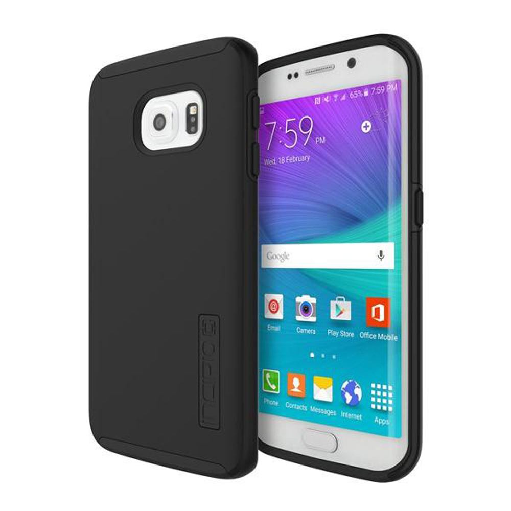 Samsung Galaxy S6 Edge Case, Incipio [Black] DUAL PRO Series Featuring Rubberized Hard Case On Silicone Skin Hybrid Case