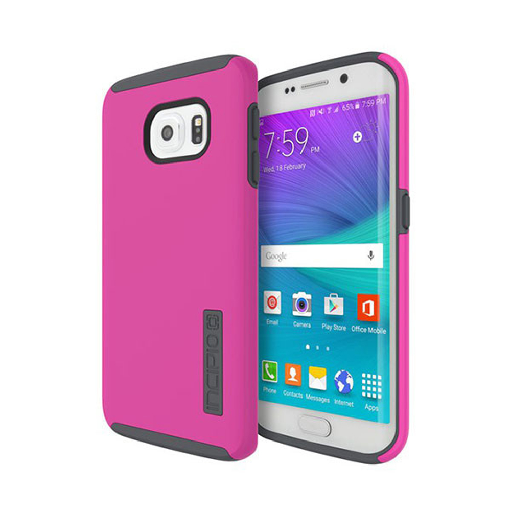 Samsung Galaxy S6 Edge Case, Incipio [Pink/ Gray] DUAL PRO Series Featuring Rubberized Hard Case On Silicone Skin Hybrid Case