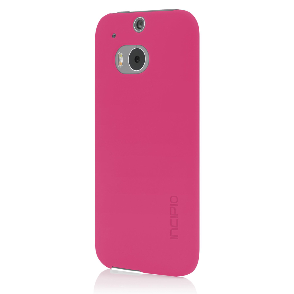 Incipio Hot Pink Feather Series Ultra Thin Rubberized Hard Case for HTC One (M8) - HT-397-PNK