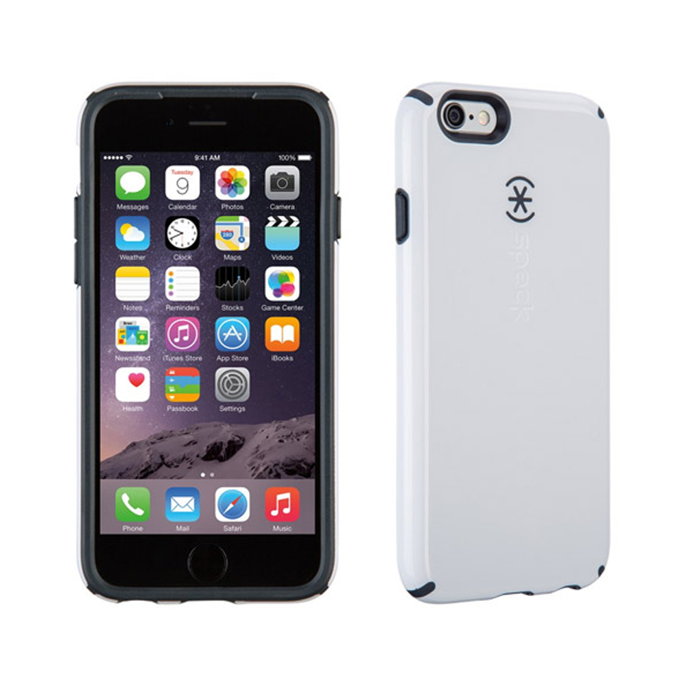 [speck] Apple Iphone 6 [speck] Hybrid Bumper Case [white/gray] Heavy Duty Protective Dual Layer Rugged Bumper Hybrid Case
