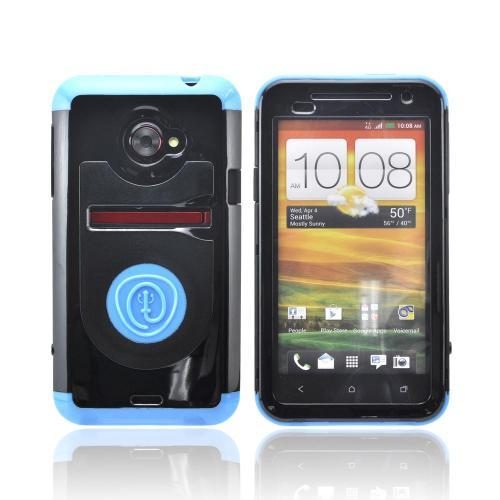 OEM Trident Cyclops HTC EVO 4G LTE Hard Cover Case w/ Built-In Screen Protector - Blue/ Black