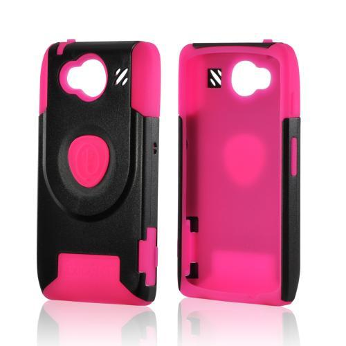 Trident Pink/ Black Aegis Series Hard Case on Silicone w/ Screen Protector for Motorola Droid RAZR HD