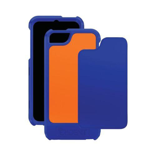 Apple iPhone SE / 5 / 5S  Case, Trident [Navy/ Orange] APOLLO Series Hard Case w/ Interchangeable Plates w/ Screen Protector - AP-IPH5-NYORG