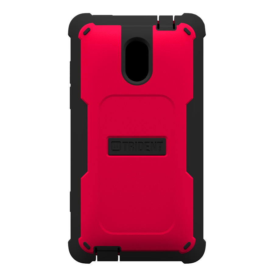 Trident Red/ Black Cyclops Series Thermo Poly Elastomer (Super TOUGH) Hard Case w/ Built-In Screen Protector for HTC 8XT - CY-HTC-8XT-RED