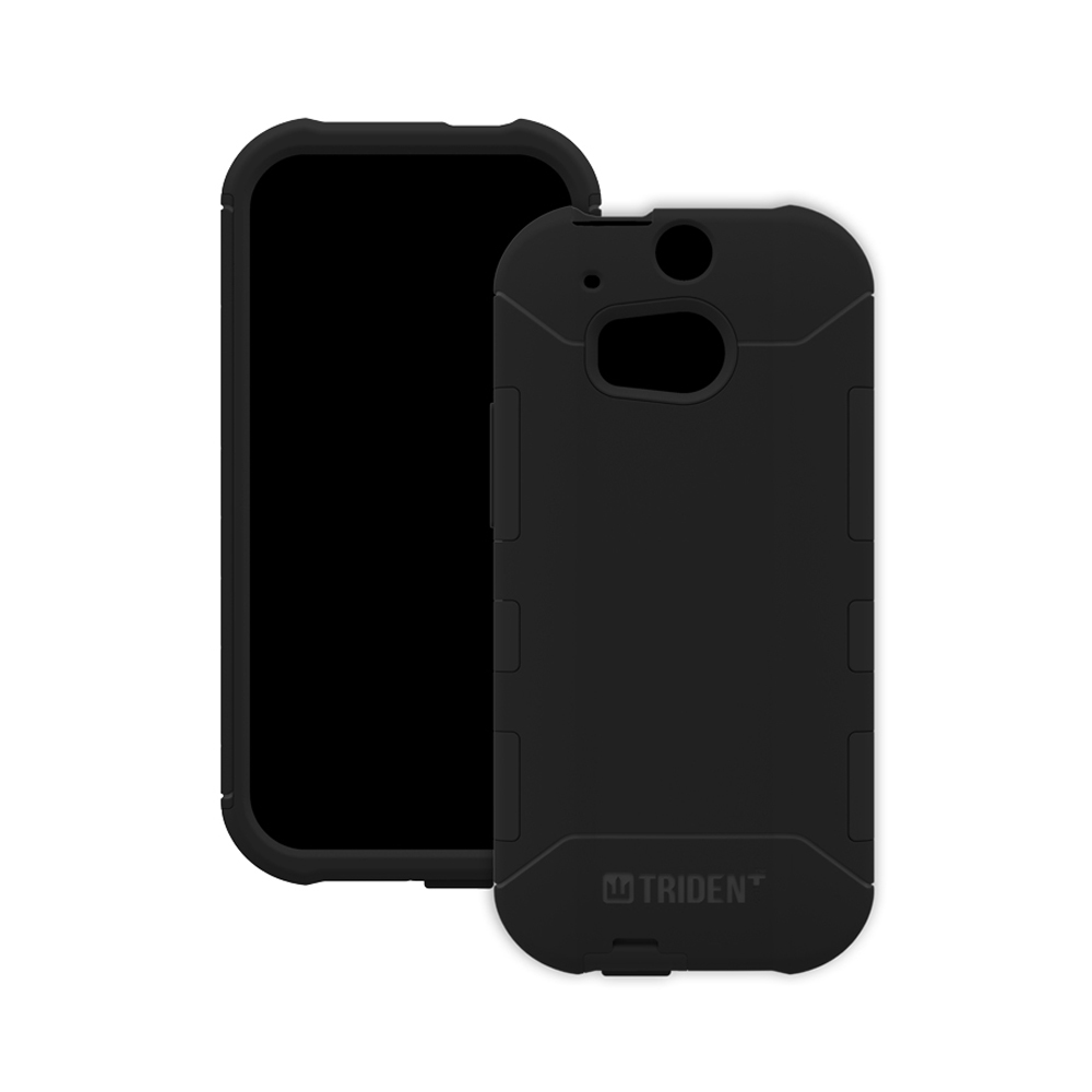 HTC One (m8) Dual Layer Case by Trident [Black] Aegis Series Featuring Hardened Polycarbonate Over Silicone Skin Hybrid Case W/ Screen Protector