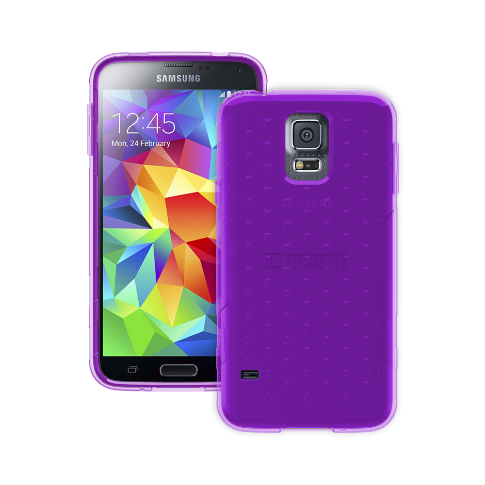 Galaxy S5 TPU Case by Trident | [Purple] Perseus Series Ultra Slim & Flexible Crystal Silicone TPU Skin Cover Case W/ Screen Protector