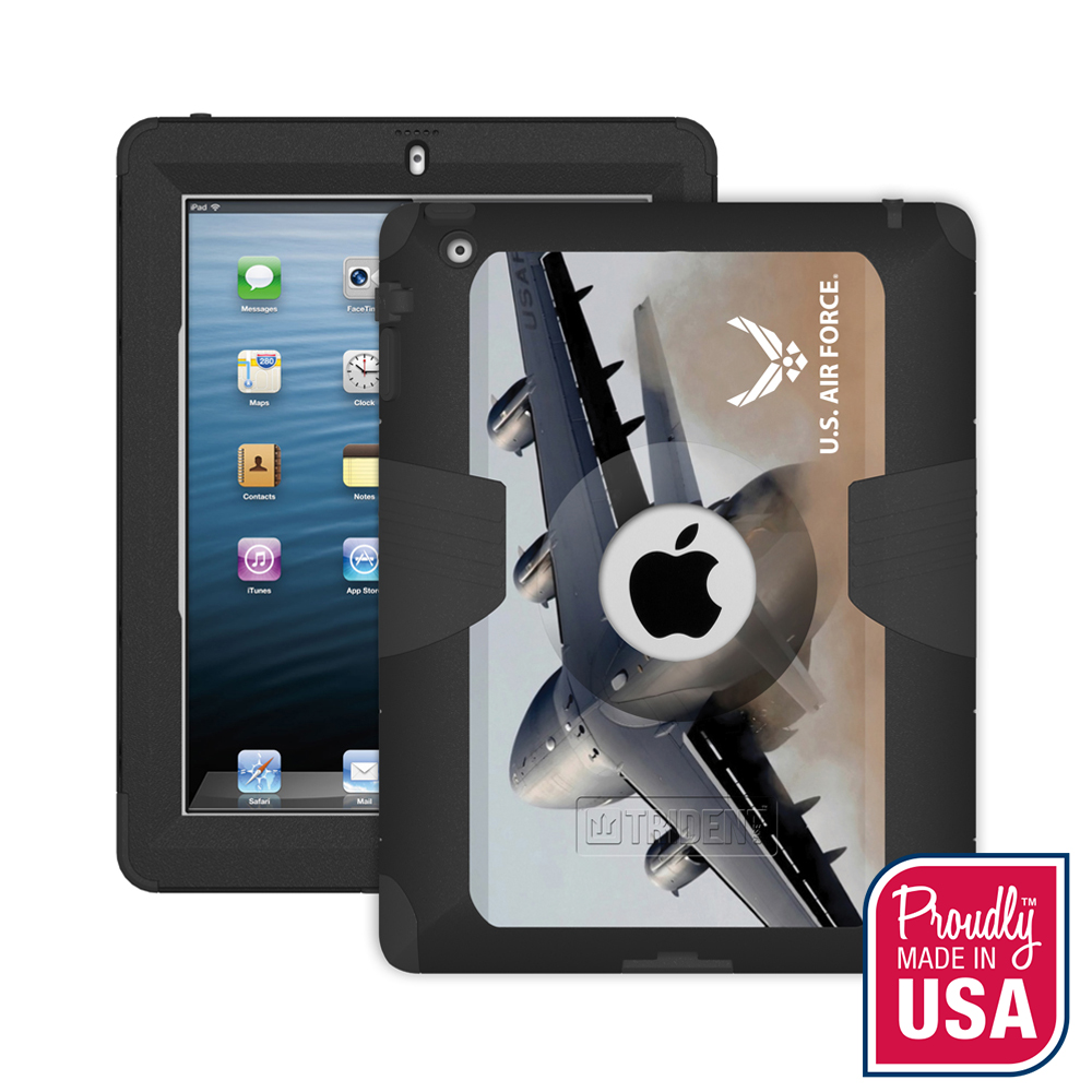 Trident U.S. Air Force Military Kraken AMS Series Hard Cover on Silicone Skin Case w/ Built-In Screen Protector for Apple iPad 2/3/4 - KN-APIPDNUBKK01