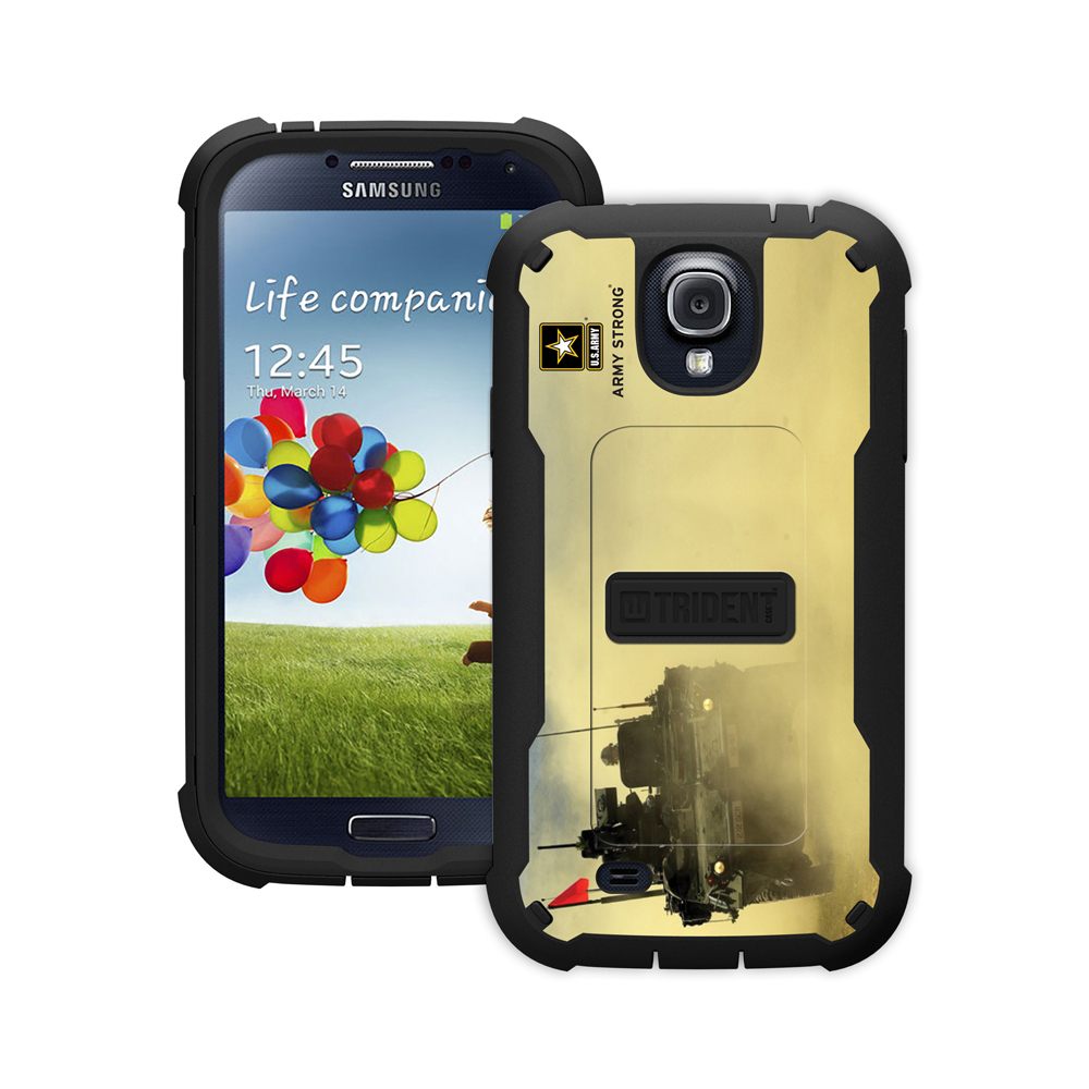 Trident U.s. Army Military Cyclops Series Thermo Poly Elastomer (super Tough) Hard Case W/ Built-in Screen Protector For Samsung Galaxy S4